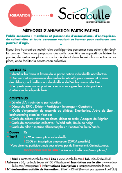 Formation : méthodes d'animation participatives